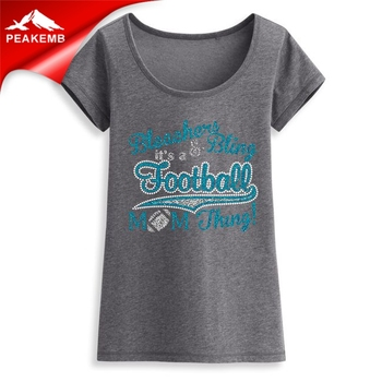 Bleachers & Bling It's A Football Mom Thing Iron-on Rhinestone Glitter Transfer