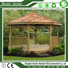 factory cooperated assembled wooden outdoor bar gazebo
