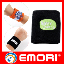 washable elastic sports knitted cotton wristbands