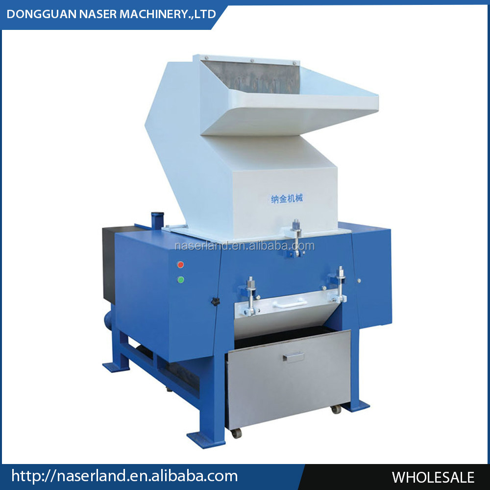 Single shaft plastic bottle shredder shredding machine