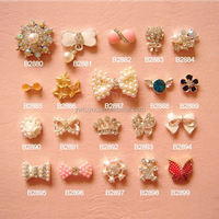 New arrival trendy style 3d nail art supplies nail charms from China