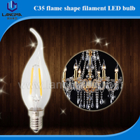 4 Watt LED Filament Candelabra led filament Light Source and chandelier dimmable clear decoration led candle bulb for home