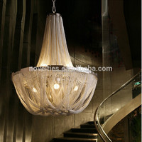 Designer Lamps Popular High Quality Aluminium Chain Pendant Chandelier with 3 Color Changeable