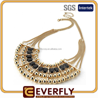 2015 new design wedding gold necklace designs, chunky necklace chain wholesale