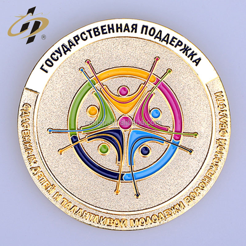 Factory direct cheap metal custom bulk russian plastic token commemorative coin