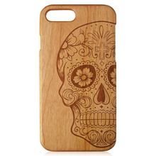 Engraving wood phone case high quality wooden case natural wood phone shell for iPhone 7 7Plus