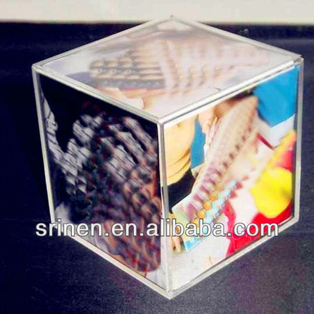 wholesale acrylic box frame with magnet