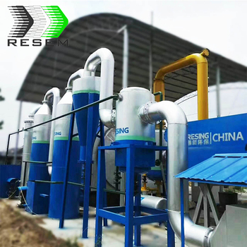 Continuous high technology durable waste rubber pyrolysis plant