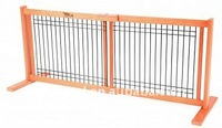 "Small Wire Mesh 20"" high Free Standing Pet Gates/ Wooden adjustable dog gate-E"