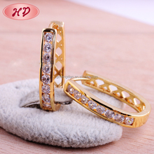 New Fashion zircon 18K gold plated jewelry indian polki and jhumka earring for Womens