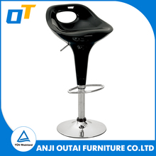 Abs Plastic covered bar stool with height adjustment and swivel