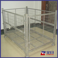 Wire Container Metal Cage Collapsible Pallet Cage