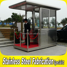 Outdoor Prefabricated Metal Steel Security Guard Booth Sentry Box