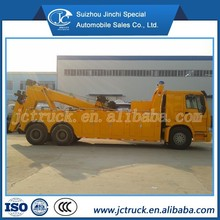 6x4 heavy hanging joint wrecker truck, car tow, heavy duty rotator wrecker towing truck for sale SINO HOWO