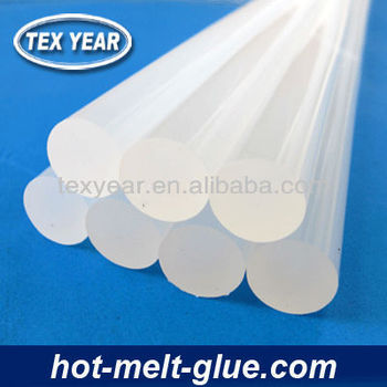 white hot glue stick