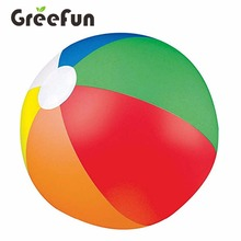 Rainbow Color Custom New Designs Beach Ball For Wholesale Cute Colorful Beach Toys For Kids Inflatable Toy