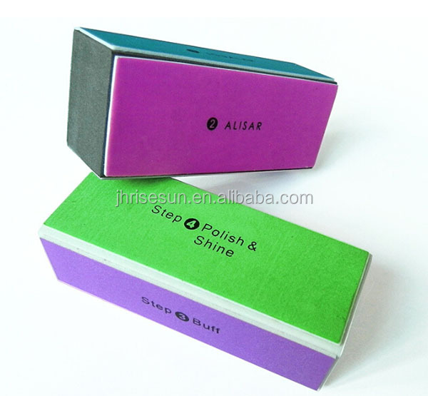 RISESUN Fashion Nail tools polishing blocks four sides nail buffer and files polished perfection