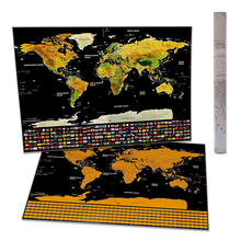 Scratch Off World Map Poster- with US States and Country FlagsTrack Your Adventures Perfect Gift for Travelers