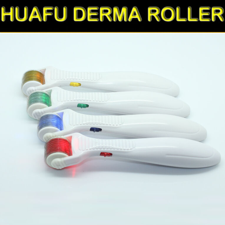 Huafu breast light led roller with photon microneedle bio light derma roller