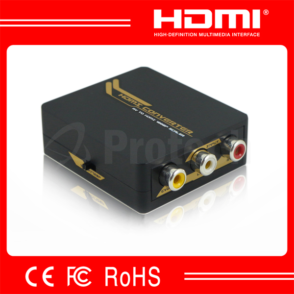 CVBS to HDMI Converter With USB Power Cable 1080P AV to HDMI Mini Converter Support NTSC PAL