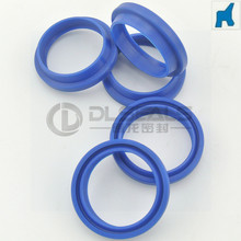 Blue China Manufacture PU oil seal ring DHS wiper scraper seal for hydraulic oil cylinder