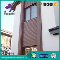 Less warping Dampproof wood plastic composite wall panel