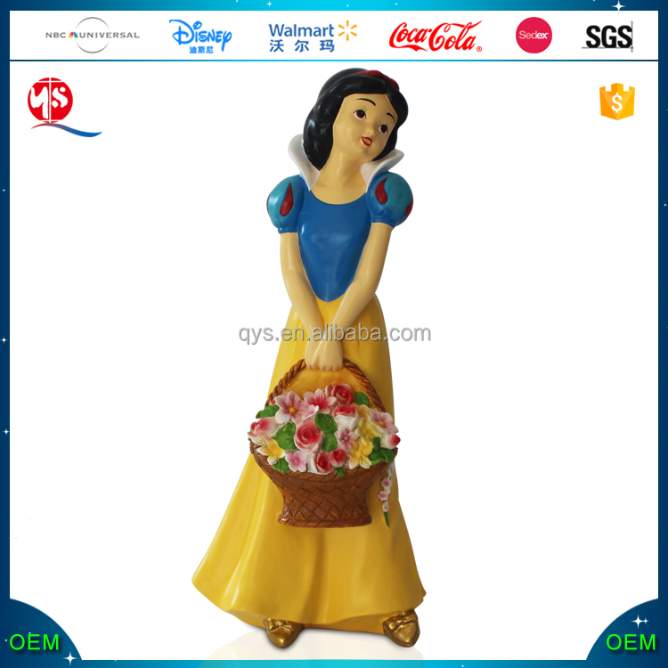 Custom resin snow white garden statue