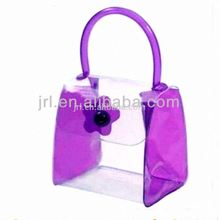 clear pvc tube bag with handle