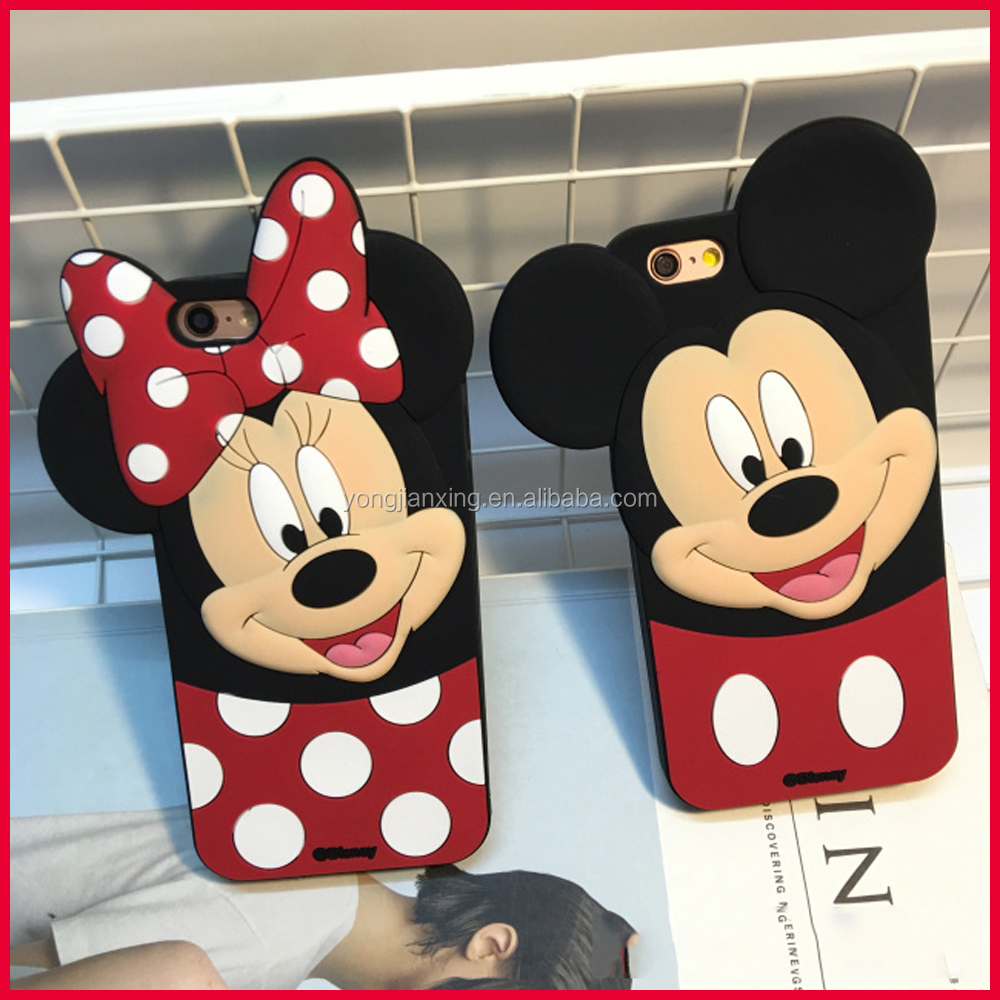 Factory wholesale cartoon silicone mobile phone cover,soft silicone sphere shockproof anime bumper case for smart phone