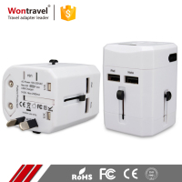 Portable Outdoor Travel Powder Adaptor Multi Charger USB Universal Adapter For Smartphone