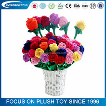 Promotional plush decoration cute stuffed plush toy rose flower