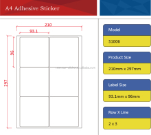 Address Label of Self Adhesive Sticker Paper