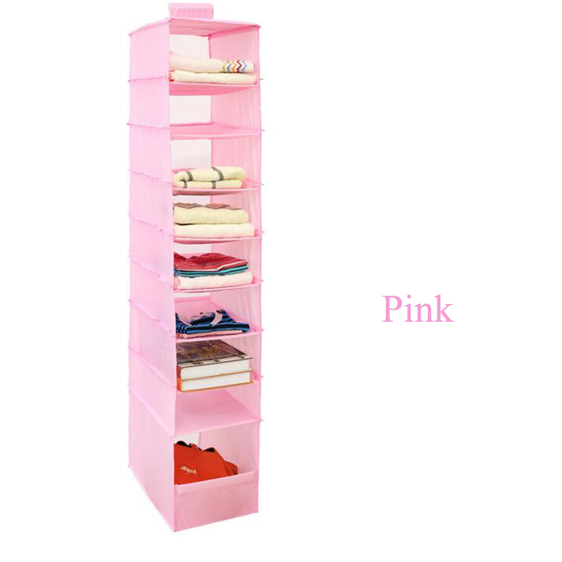 9 Cell Hanging Box Underwear Sorting Clothing Shoe Jean Storage Mails Door Wall Closet Organizer Organizador Bag