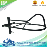 Safety Black Horse Saddle Rack