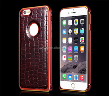 Wholesale Luxury Leather Bumper Back Cover Phone Case For Iphone