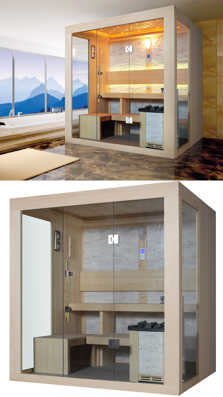 HS-SR1249 russian sauna room/ sauna personal/ 3 person sauna