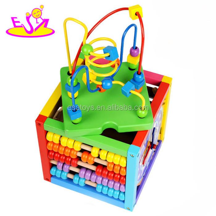 Pädagogisches Spielzeug Holz Perlen Labyrinth Cube,Holz ...