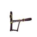 Black Pvc Headcollar With Solid Brass Fittings, For Horse And Cattle