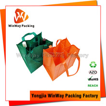 6 Bottle Non Woven Wine Carrier Bag