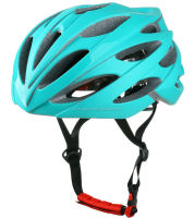 aqua blue cycle helmet with CPSC certificate, helmet in mountain bicycle