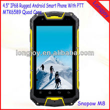 Military Rugged Phone With Walkie Talkie PTT MTK 6589 Quad Core Snopow M8