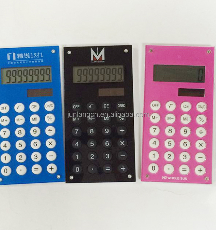 Promotional gift 8 Digit Fancy Solar Calculator Giveaway Calculator