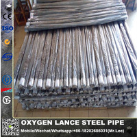 erw oxygen lancing pipe and thermal lance pipe10*1mm