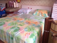 "manufacturer supply -woven-110"" Width and Carded Yarn Type 100% cotton flannel fabric for bed sheet with flowers print"