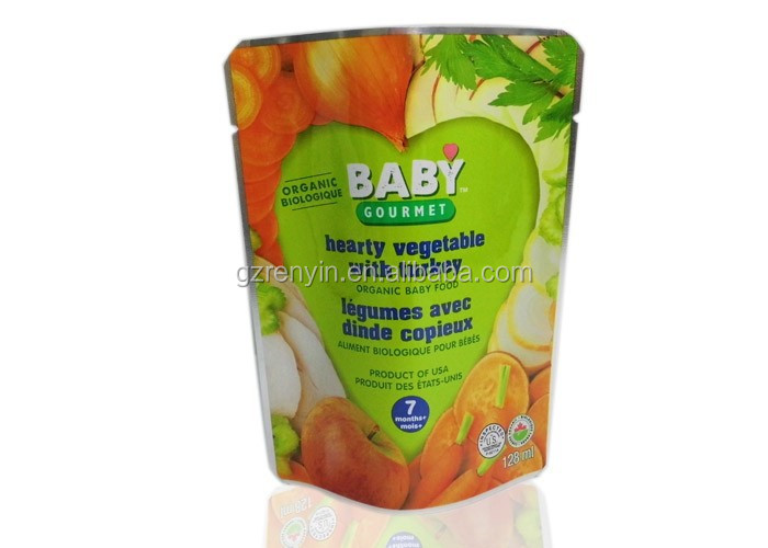 Plastic food grade retort pouch , stand up pouch , laminated plastic bag