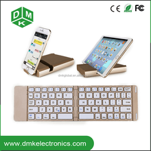 aluminium case stand keyboard wireless bluetooth keyboard foldable