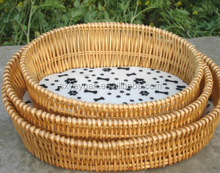Pet Products Brown wicker Pet Residence poly rattan dog bed