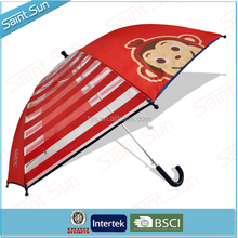 POE with Fabric Lovely Korea Kid transparent Umbrella with test passed , Promotion piping Umbrella