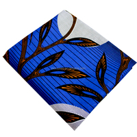 african wax prints fabric blue tree design knitted fabric for african beautiful dresses 6yardshollandais wax fabric
