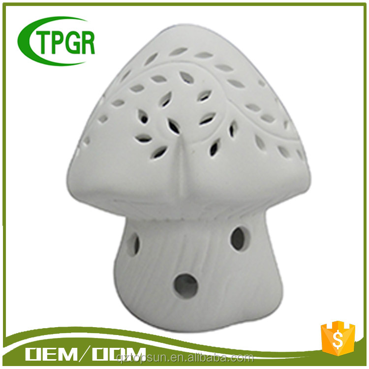 Ceramic Mushroom Garden Led Outdoor Light With Solar Power Light Box For Crafts